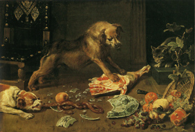 Frans_snyders_two_dogs_cat
