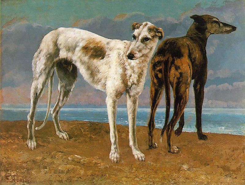 Courbet_greyhounds