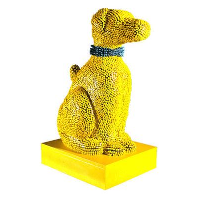 Yellow_dog_crayon_sculpture copy