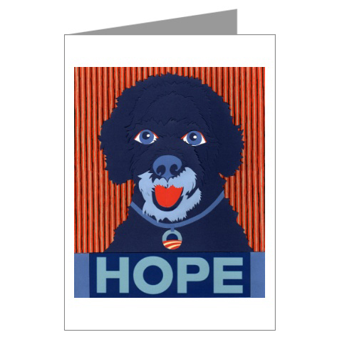 Porties-for-obama-greeting-cards