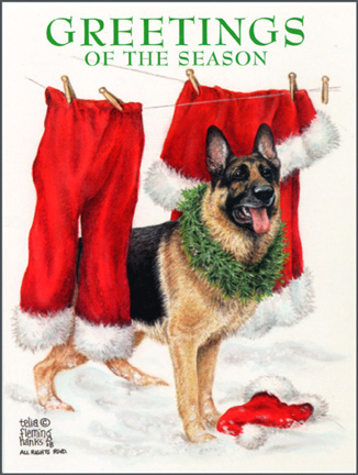 dog art today dog breed christmas cards by telia fleming hanks
