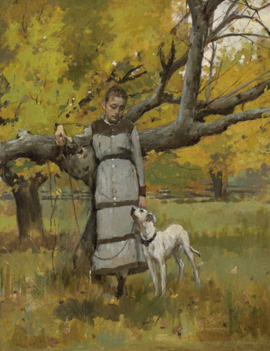Theodore_robinson_young_girl_dog