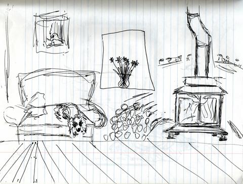 Longhaired_dachshund_calendar_sketch