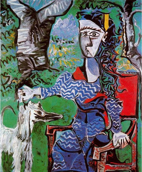 Woman_with_dog_under_tree_picasso