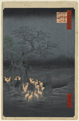 Hiroshige_new_years_eve_foxifires_at_the_changing_tree_oji