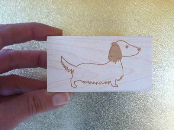 Longhaired_dachshund_custom_stamp