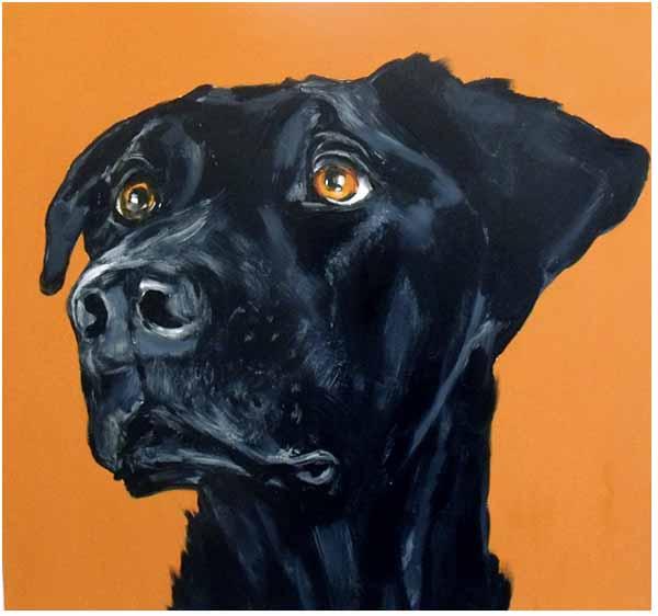 Ian_healy_dog_painting_hound_dog