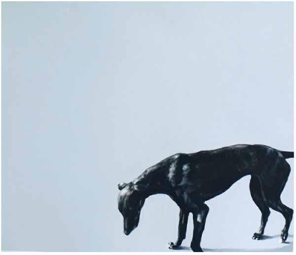 Ian_healy_dog_painting_hound_walking