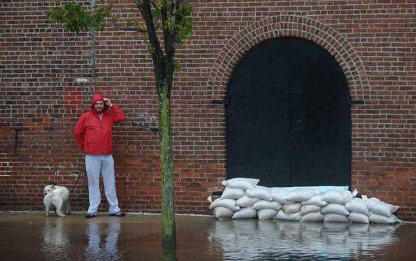 Man-with-dog-red-hook-brooklyn-hurricane-sandy-2012