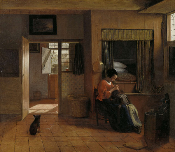 Mother-task-by-pieter-de-hooch-1658