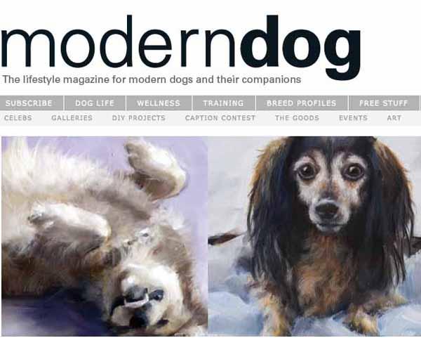 Dog Art Today Clair Hartmanns Darby In Modern Dog Magazine