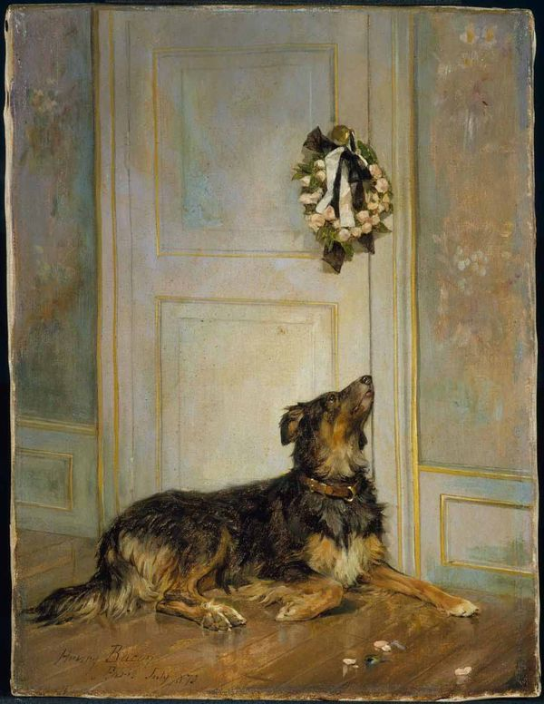 Dog-in-mourning-henry-bacon-1870