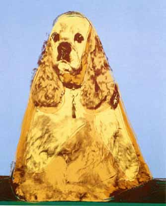 Andy-warhol-cocker-spaniel-ginger-silkscreen