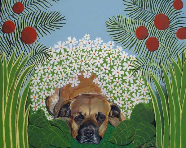 Judy-henn-dog-painting-gizzy