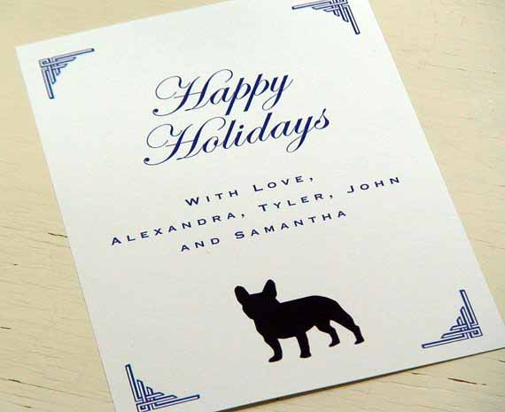 Dog art today top dog art christmas cards for 2012 french bulldog christmas cards m4hsunfo