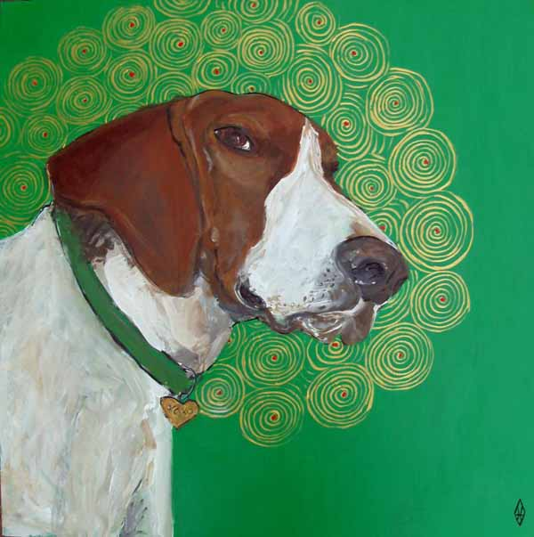 Judy-henn-dog-painting-holiday-hobie
