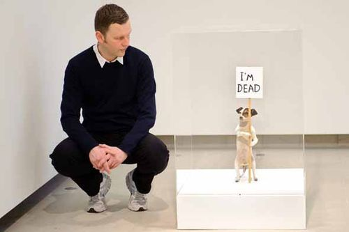 David-shrigley-im-dead-stuffed-dog-art-empics
