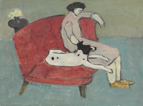 Milton-Avery-Seated-Woman-with-Dog