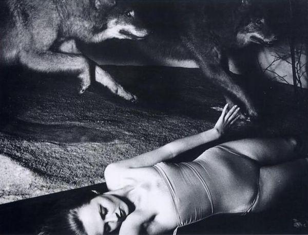 Francesca-woodman-photogtaph-model-with-wolves