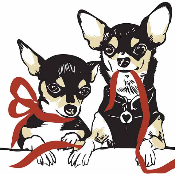 Chihuahua-letterpress-holiday-christmas-cards