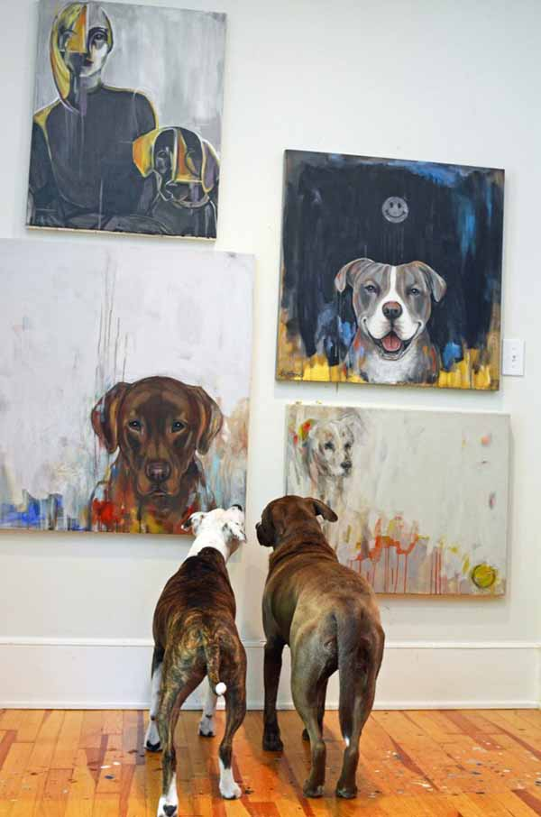 Heather-la-haise-dog-artist-home-virginia-postic