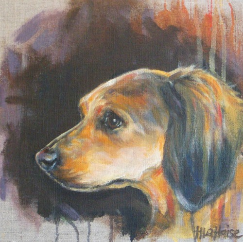 Darby-longhaired-dachshund-painting-with-tyler-foote-shadow-by-heather-lahaise-3