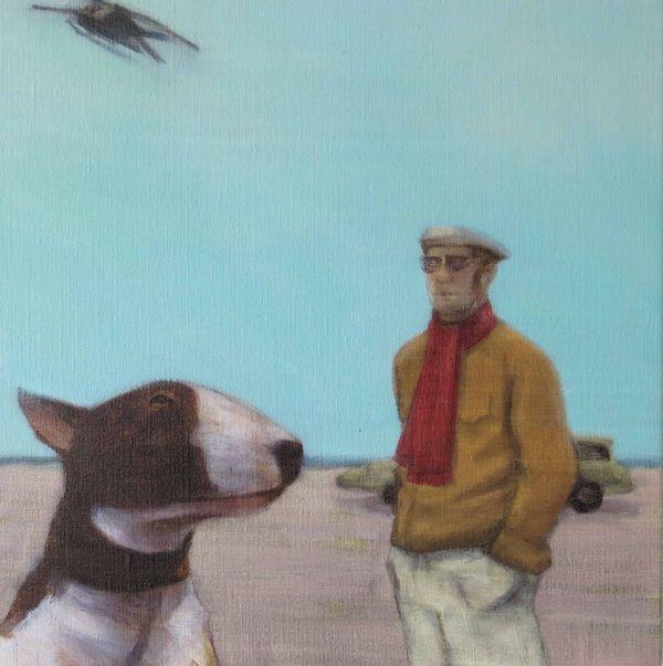 Vintage-classics-ray-richardson-english-bull-dog-painting
