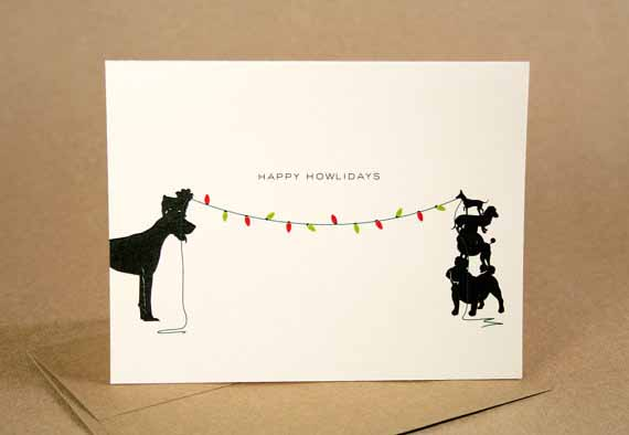 happy holidays dog christmas card 1 - Dog Holiday Cards