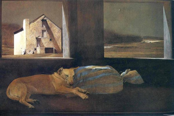 Night-Sleeper-by-Andrew-Wyeth-1979