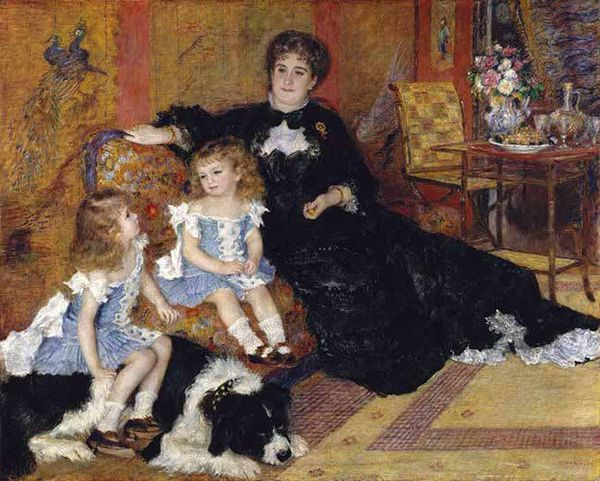 Madame-GeorgesCharpentier-with-her-children-and-dog-by-August-REnoir-1878