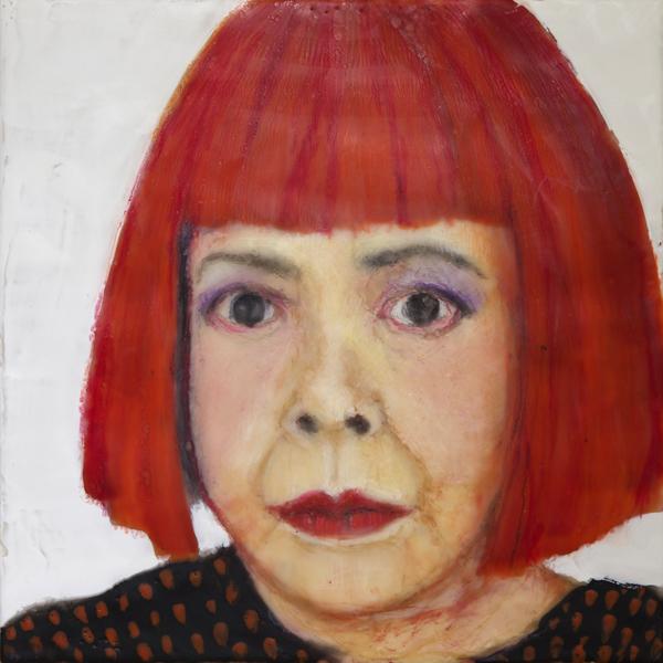 Roseanne-Burke-Yayoi-Kusama-Portrait-2014