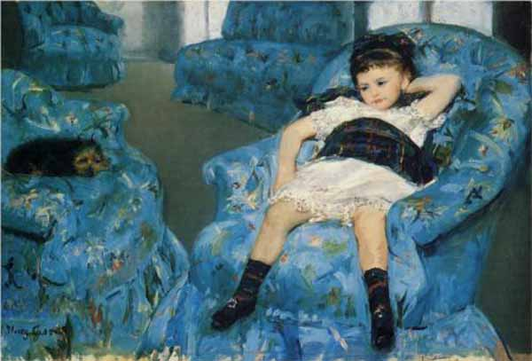 Little-girl-in-a-blue-armchair-Mary-Cassatt-1878