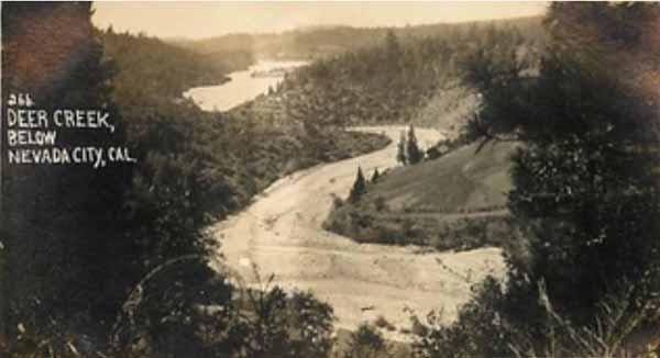 Vintage-postecard-deer-creek-below-nevada-city