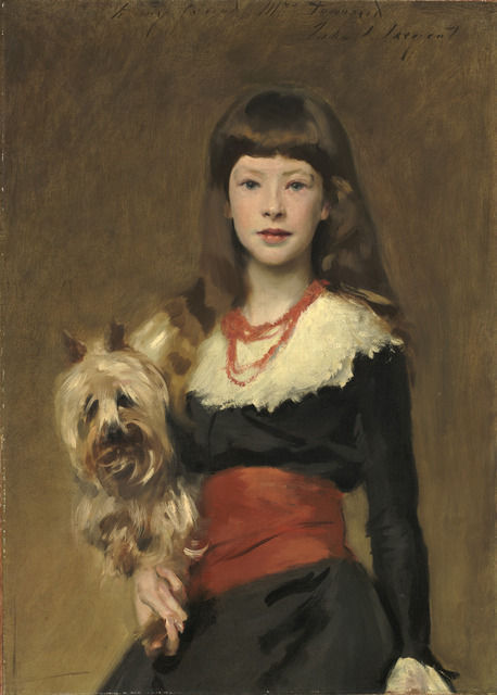 Miss-Beatrice-Townsend-and-Her Dog-by-John-Singer-Sargent-1882