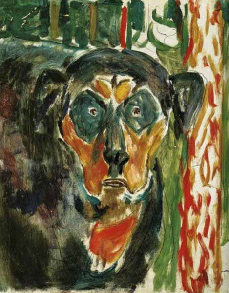 Head-of-a-dog-by-edvard-munch-1930