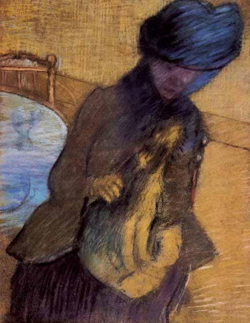 Mary-Cassatt-with-her-dog-by-edgar-degas