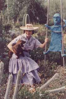 Beatrice-wood-with=her-dachshund-ojai_1960