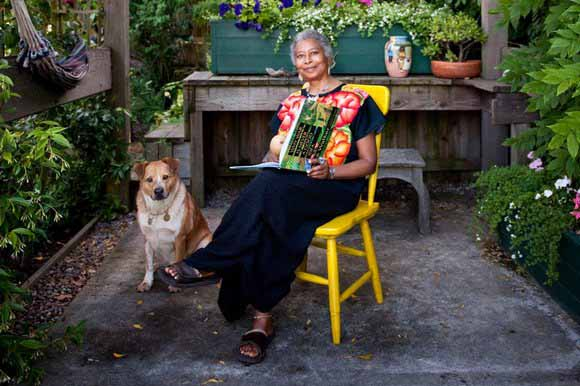 Alice-walker-with-her-dog-miles-coyote-shaman