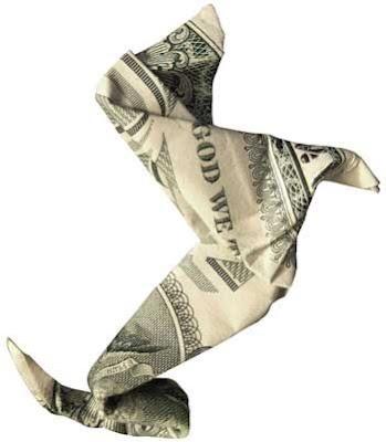 Origami-dog-made-from-dollar-bill