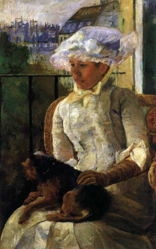 Susan-on-a-Balcony-with-a-Dog-by-Mary-Cassatt-c.1883