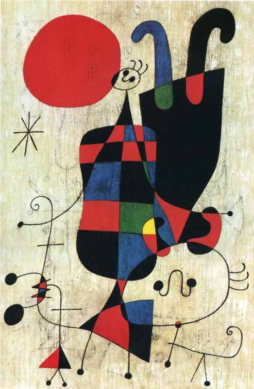 Figures-and-dogs-in-front-of-the-sun-joan-miro-1949