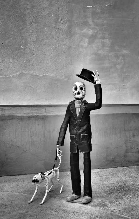 Day-of-the-dead-man-and-dog-photograph-by-David-Brommer-2013