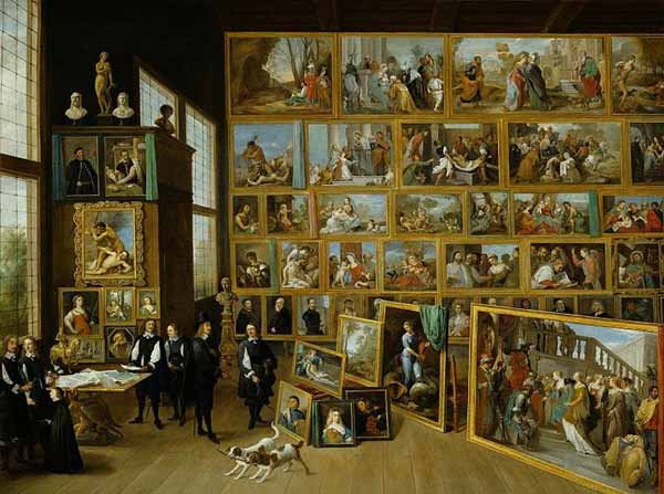 David-Teniers-the-Younger-The Archduke-Leopold-Wilhelm-in-his-gallery-Brussels,-1651