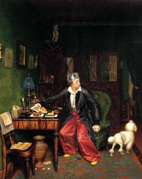 The-Aristocrat's-Breakfast-by-Pavel-Andreevich-Fedotov-1849-1850t