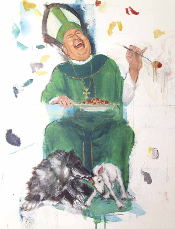 Cardinal-Timothy-Dolan-Cash-Receptacle-by-Meredith-Driscoll