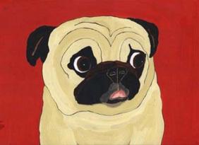 Pug_art_painting