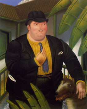 Botero_man_with_dog