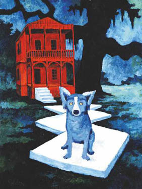 Rodrigue_blue_dog_watchdog