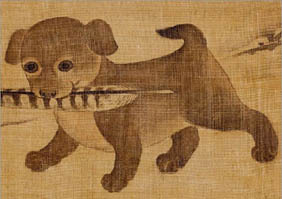 Korean_dog_art_puppy